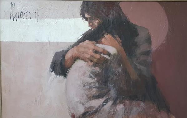 """Twilight""  1974 Original Oil on Canvas by Aldo Luongo"
