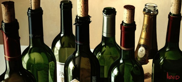 """""""Eight Empties"""" Giclee on Canvas by Thomas Arvid"""