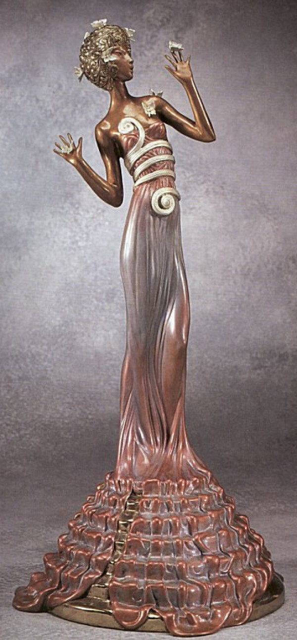 """Fantasia"" Bronze Sculpture by Erte"