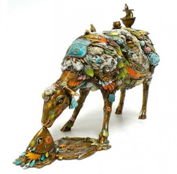 """Alberta"" Large bronze sculpture by Nano Lopez."