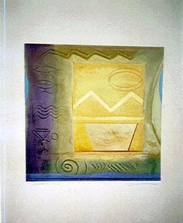 """Avalon I"" Monoprint by Richard Quinn"