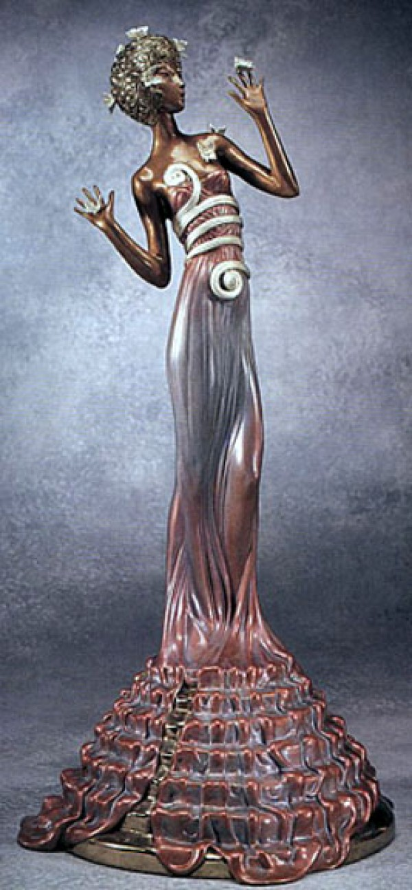 Fantasia Bronze Sculpture by Erte 1988
