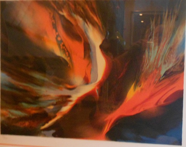 """Firebird "" Limited Edition Color Lithograph by Leonardo Nierman"
