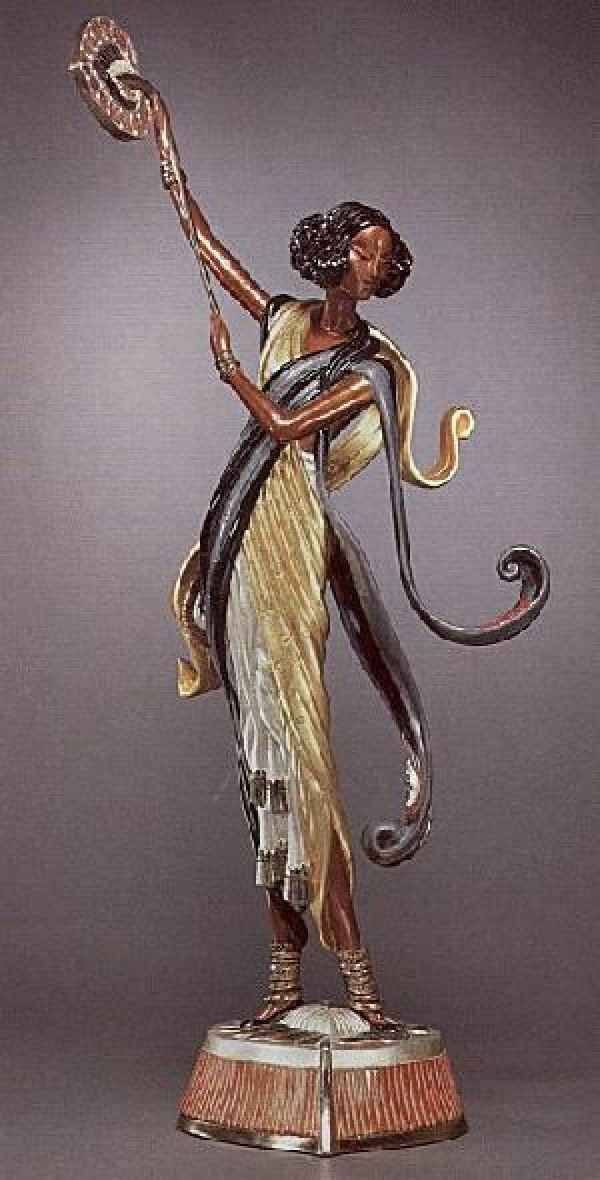 """Arabian Nights"" Bronze Sculpture by Erte"