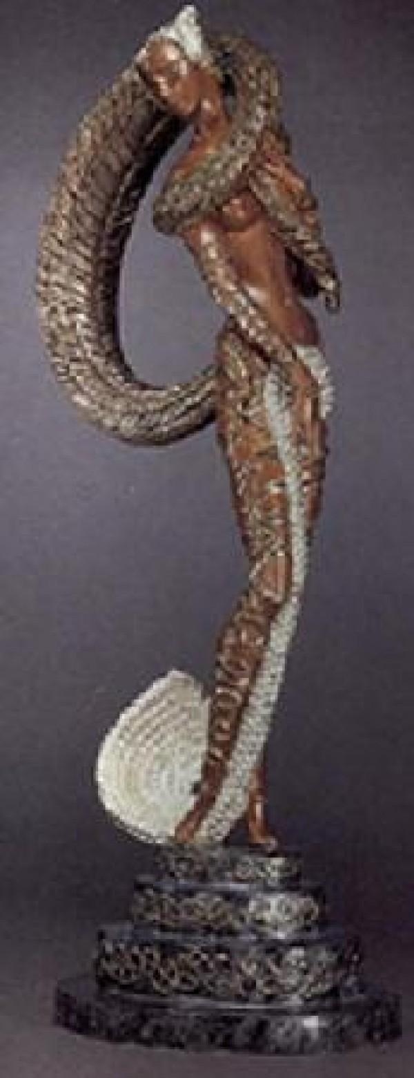 """""""Masquerage"""" a Bronze Sculpture by Erte"""