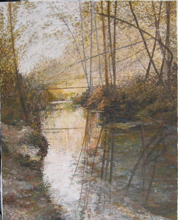 """By The River"" Original Acrylic on Canvas by Slobodan Paunovic"