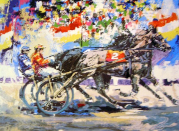 """Trotters"" 1978 Serigraph on Paper by Wayland Moore"