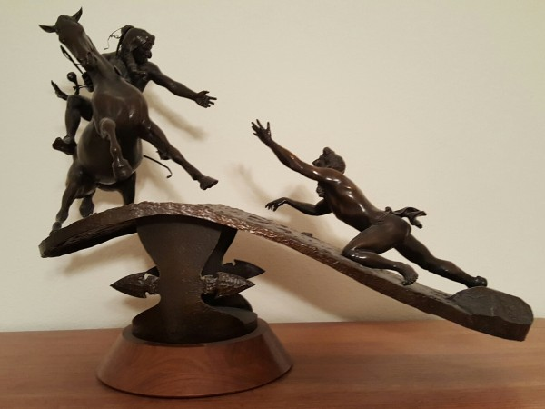 """""""Brother"""" Bronze Sculpture by Bud Boller"""