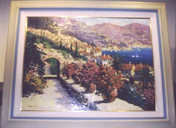 """""""Riviera Overlook"""" Original Acrylic/Canvas by Kerry Hallam"""
