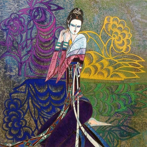 """""""The Bride"""" Serigraph on Paper by Shao Kuang Ting"""