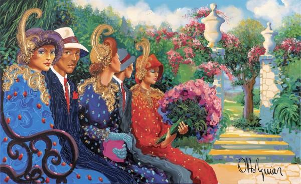 """Jardim Botanico 2"" Original Acrylic on Canvas by Otto Aguiar"