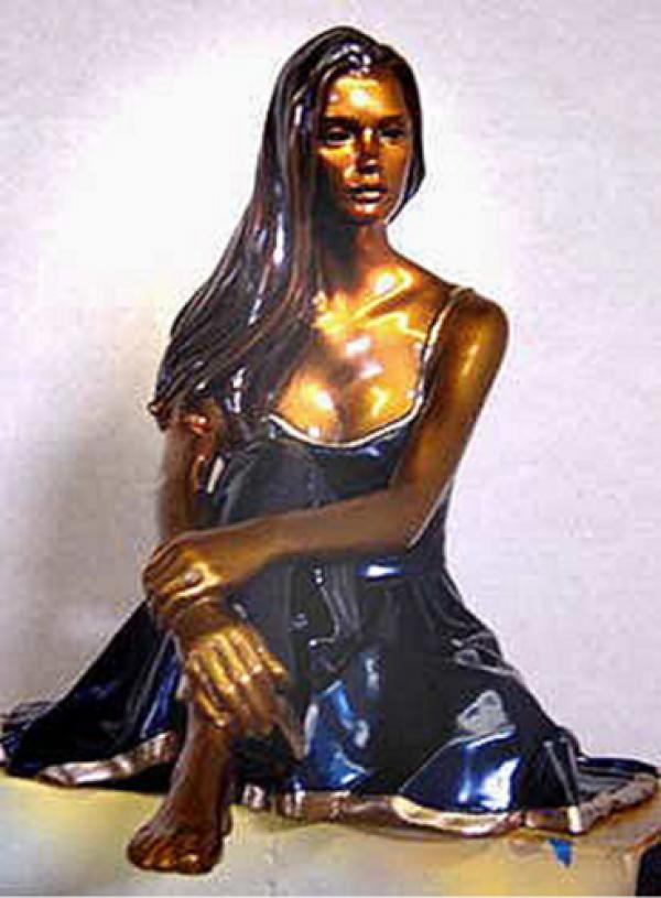 """Serene"" Bronze Sculpture by Ramon Parmenter"