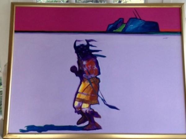 """Eagle Dance"" Original Acrylic on Canvas by John Nieto"