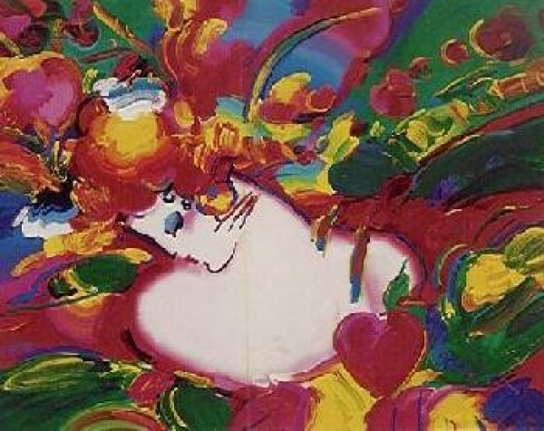 """""""Flower Blossom Lady"""" Serigraph by Peter Max"""