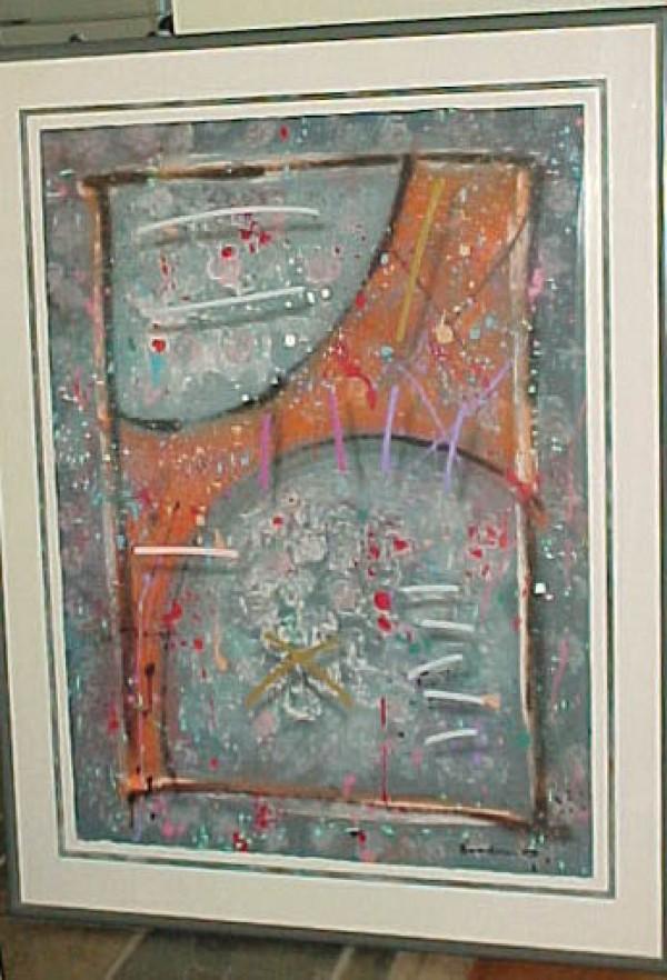"""""""Soft Spoken Stranger"""" Original Acrylic on Paper by Mark Erickson"""