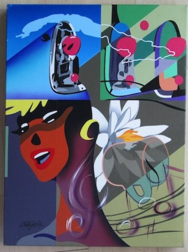 """""""Alive"""" Original Acrylic/Canvas by Rick Garcia"""