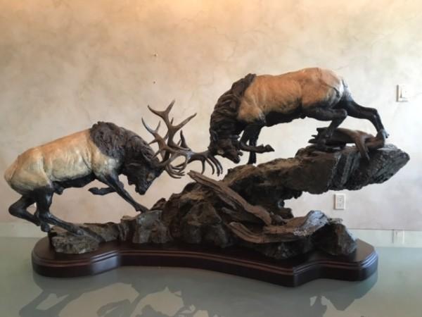 Primitive Force Bronze sculpture by Lorenzo Ghiglieri