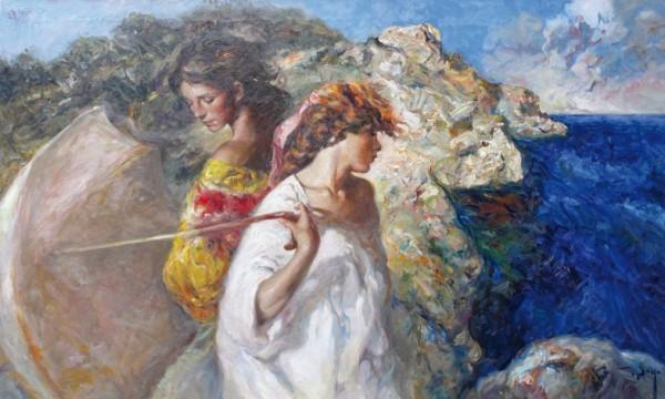 """""""Brisa Mediterranea"""" Original Oil on Canvas by Royo"""