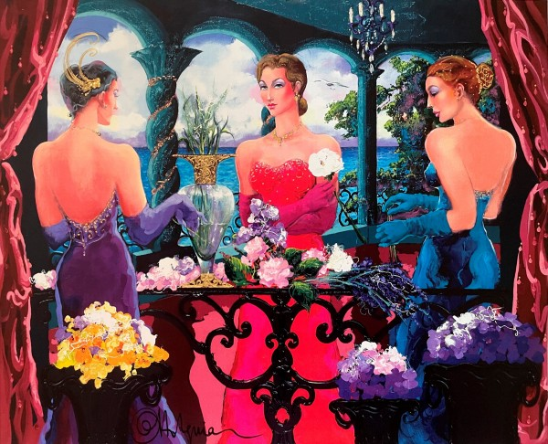 """The New Veranda Latina"" Original Acrylic on Canvas by Otto Aguiar"