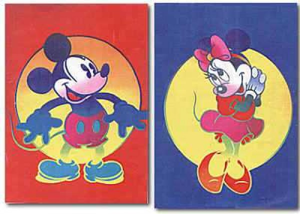 """"""" Disney Mickey & Minnie"""" Suite of 2 Serigraphs by Peter Max"""