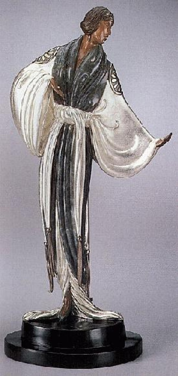 """""""Belle du Nuit"""" Bronze Sculpture by Erte"""