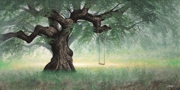 """The Swing"" Hand-Textured Giclee on Canvas by Jon Rattenbury"