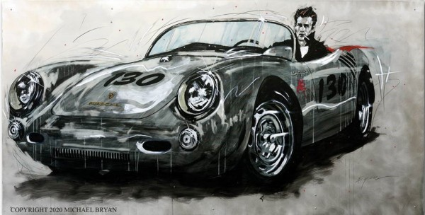 """""""Jimmy D"""" A Spyder Came Calling, Original Mixed Media on Hand Worked Aluminum"""