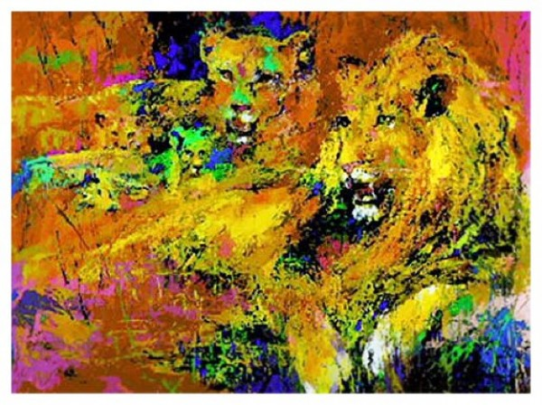 """""""The Royal Family"""" Serigraph by LeRoy Neiman"""