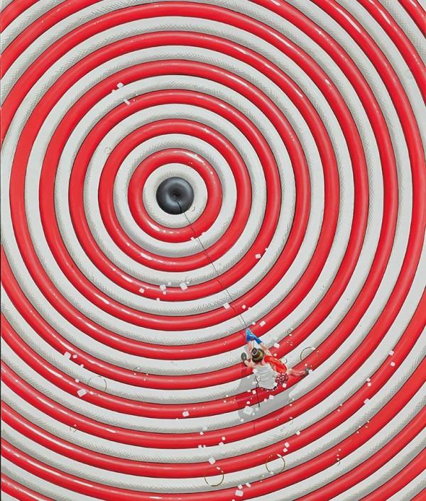 """Vertige"" pigment print on canvas by Philippe Bertho"