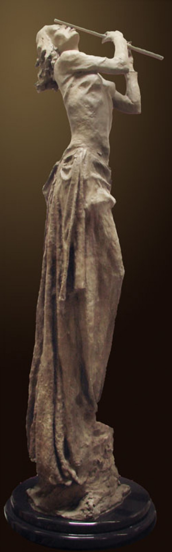 """Meditation"" bronze sculpture by Tuan"