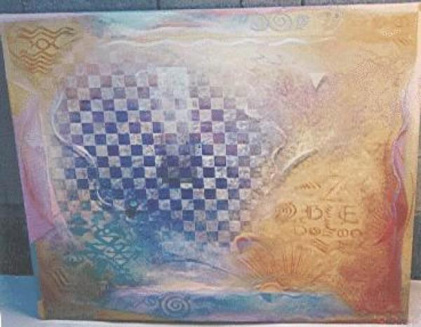 """River of Creation"" Original Oil/Acrylic on Canvas by Richard Quinn"