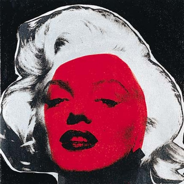 """Marilyn Series VI (Black)"" Embellished Mixed Media on Canvas by Steve Kaufman"