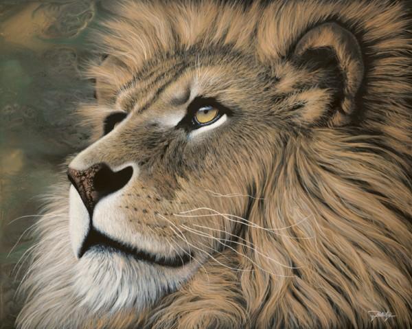 """Silent Wisdom"" Hand-Textured Giclee on canvas by Jon Rattenbury"