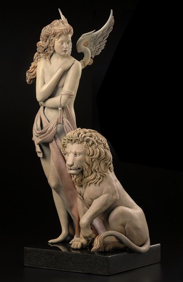 """""""Last Lion"""" 1/3 LIfe Size Bronze Sculpture by Michael Parkes"""