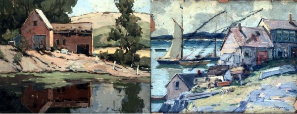 Walter Farndon Untitled Original double sided Oil on Board painting