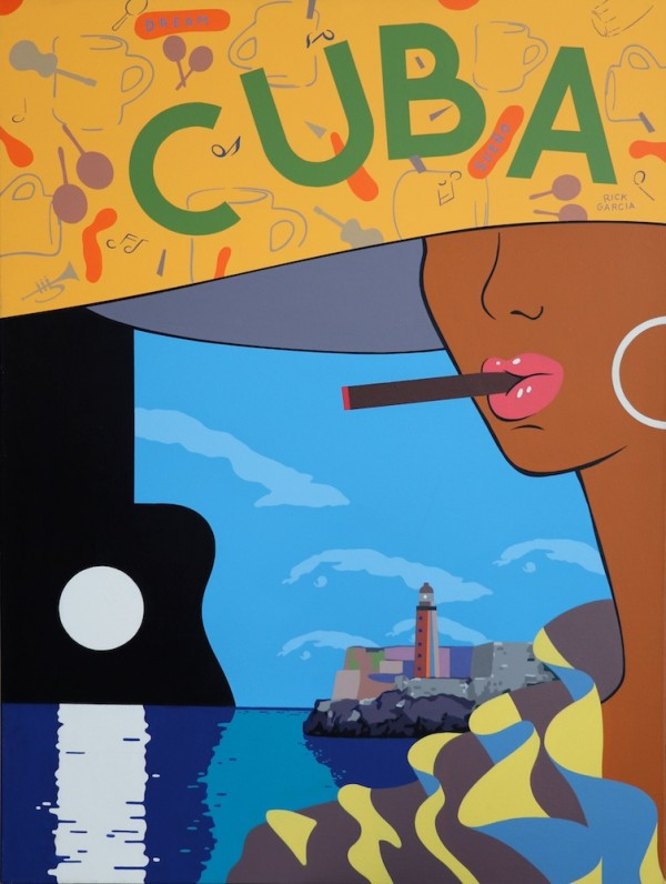 """Dream (Cuba)"" Original Acrylic on Canvas by Rick Garcia"