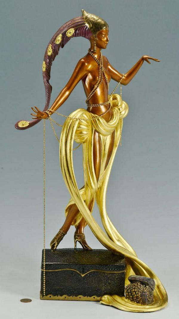 """Pleasures of the Courtesan"" Bronze Sculpture by Erte"