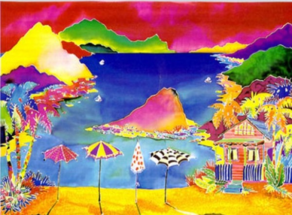 """""""Summertime"""" Serigraph on Glossy Deluxe Paper by Jennifer Markes"""