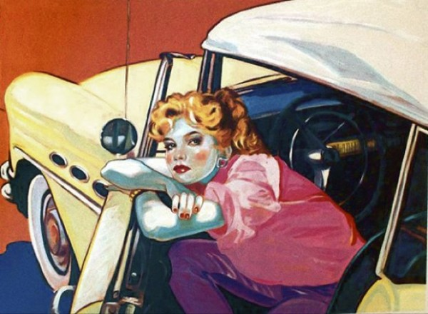 """""""Built Like A Buick"""" Serigraph by Colleen Ross"""