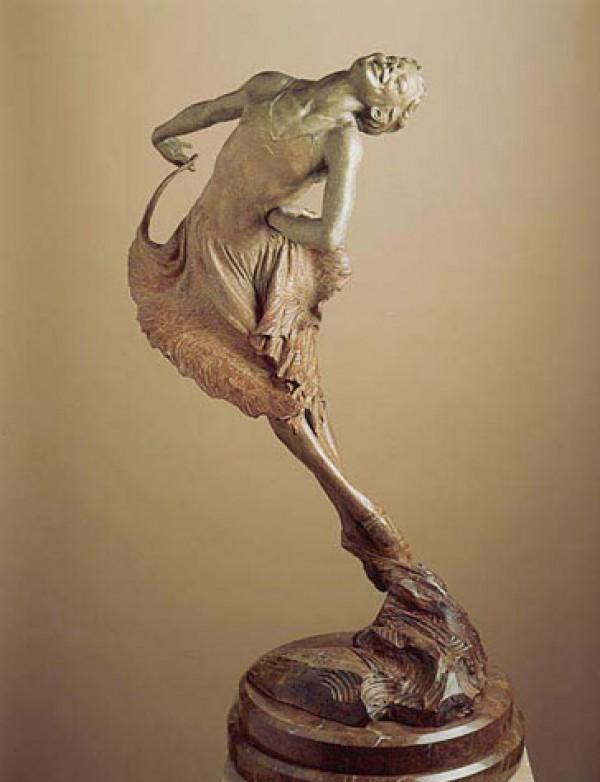 """""""Red Dress"""" Bronze Sculpture by Richard MacDonald"""