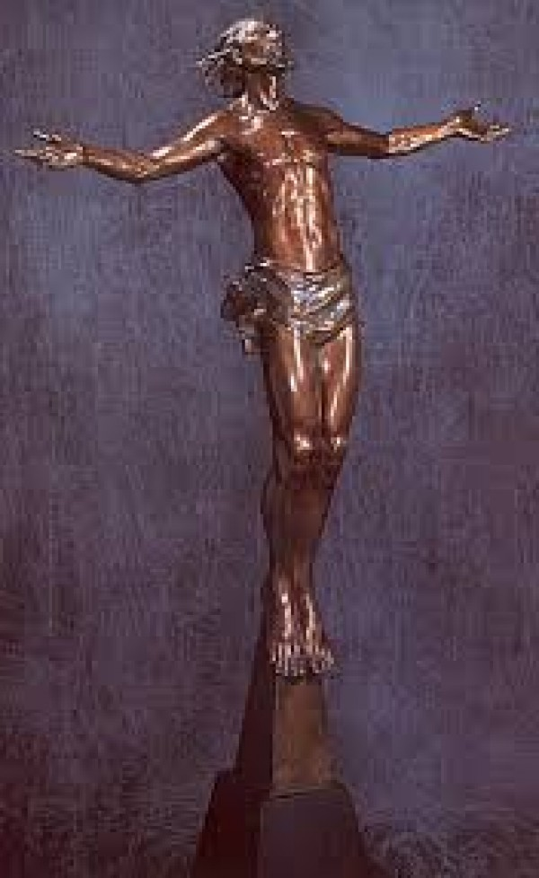 """""""Christ Rising"""" Bronze Life Size Scuplture by Frederick Hart"""