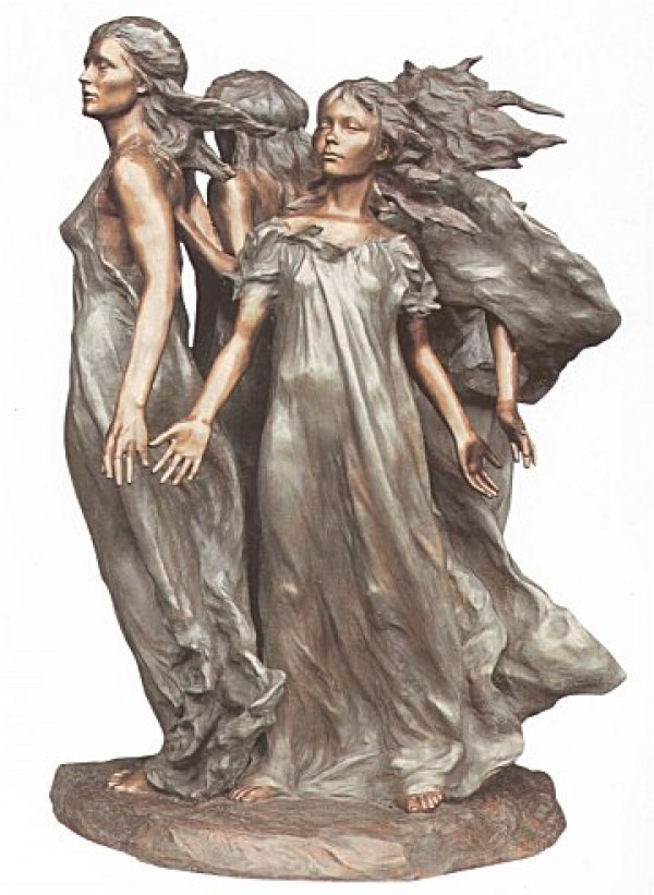 """""""Daughters of Odessa"""" 1/3 Life Bronze Sculpture by Frederick Hart"""