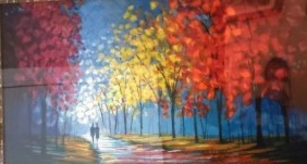 Autumnal Pathway Serigraph on paper by Slava Ilyayev