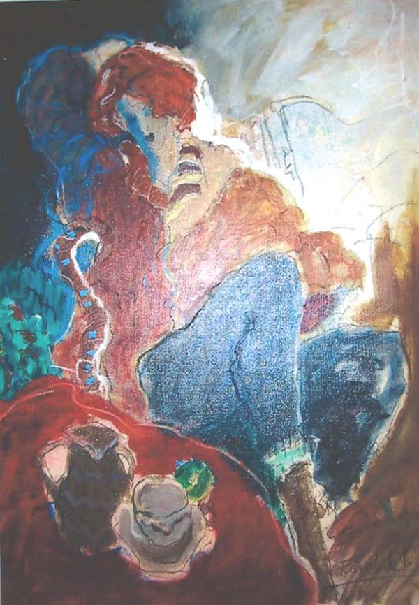 """Chantal"" Original Oil/Canvas by Roy Fairchild"