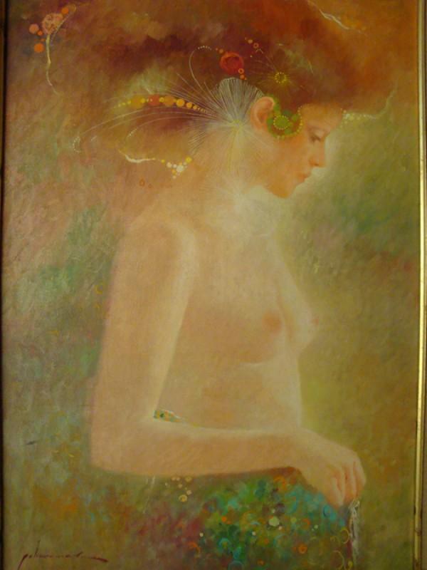 """Desnudo"" Original Oil/Canvas by Felix Mas"