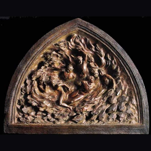 """""""Ex Hihlio"""" Creation of Mankind out of Nothing, Bronze Maquette Wall Sculpture by Frederick Hart"""