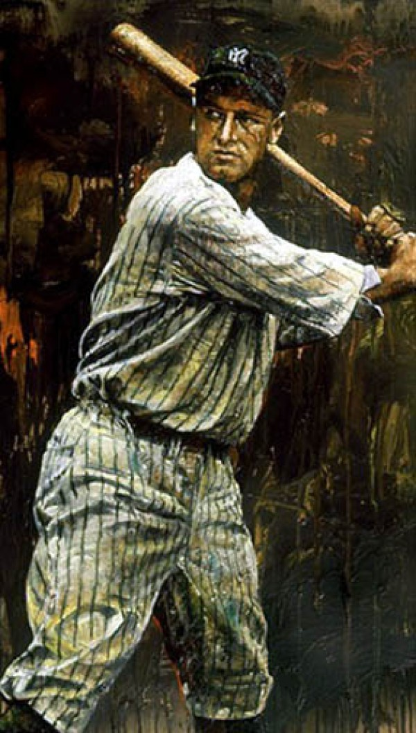 """""""Lou Gehrig"""" Giclee on Canvas by Steve Holland Wanted"""