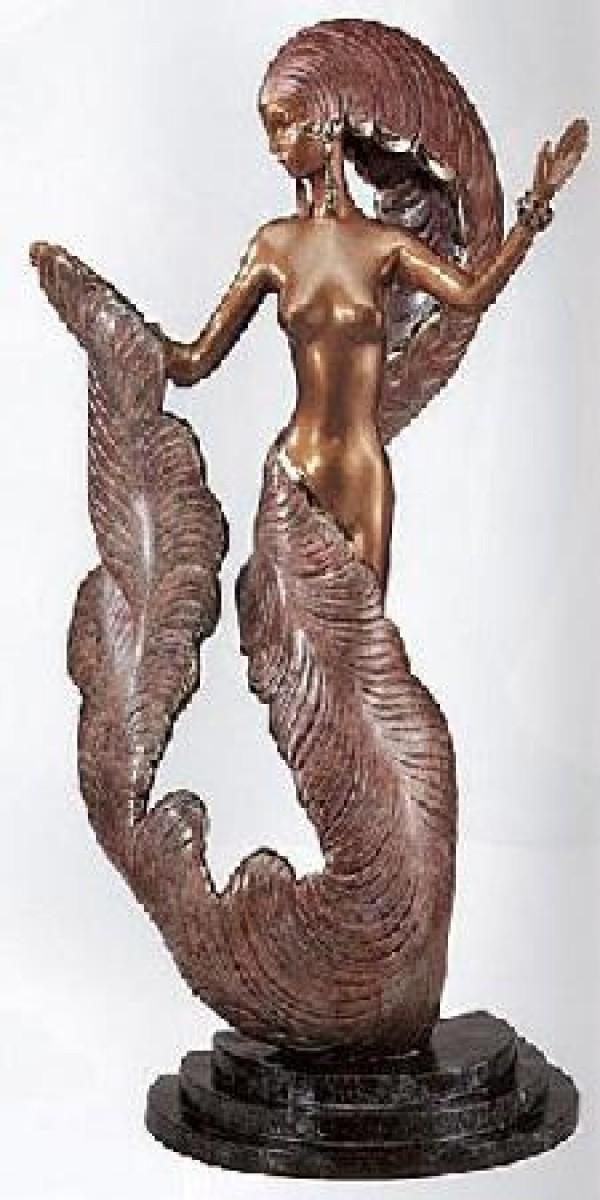 """""""Folies Bergere"""" Bronze Sculpture by Erte"""