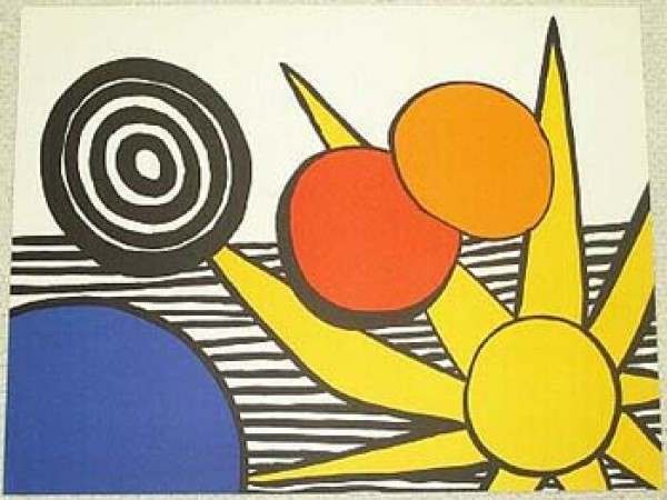 """""""Sunrise"""" unsigned lithograph by Alexander Calder"""