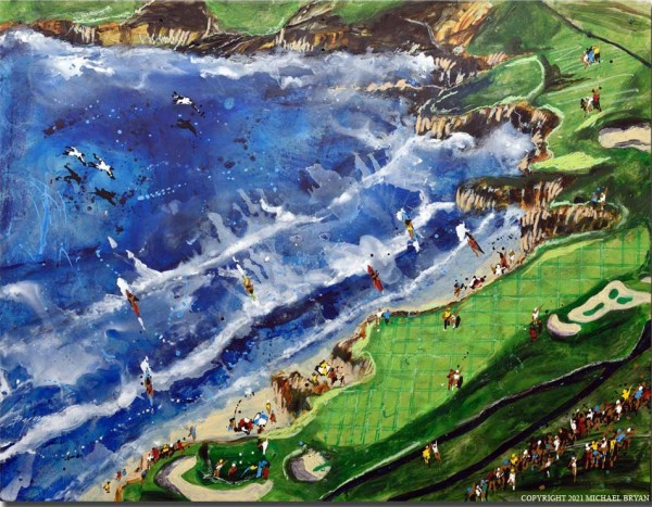 """""""Pebble"""" Limited Edition Giclee on paper, canvas or aluminum by Michael Bryan"""